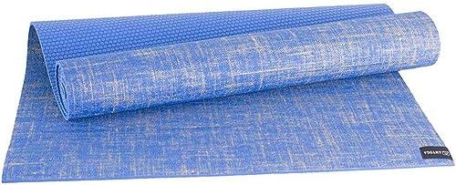 Giow Tapis de Yoga, Lin Naturel Tapis de Yoga Antidérapant Insipide Fitness Tapis d'exercice Tapis d'exercice Absorption de la Sueur Bonne élasticité