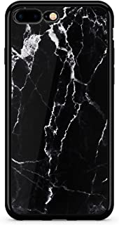Obbii Case for iPhone 7 Plus /8 Plus Case(5.5 inch) Black Marble Design Shockproof Slim TPU Flexible Soft Silicone Protective Durable Cover Case Compatible with iPhone 8 Plus/7 Plus