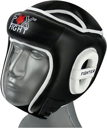 FOX-FIGHT OPEN FACE Kopfschutz Full Face Leder B00NE3SN04     | Kaufen Sie online