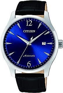 ساعة ميكانيكية من سيتيزن للرجال - عرض انالوج بسوار جلدي - NJ0110-18L