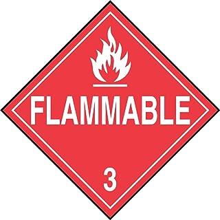 Accuform Signs MPL301VS1 Adhesive Vinyl Hazard Class 3 DOT Placard, Legend