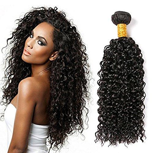 CLAROLAIR tissage bresilien boucle meche bresilienne cheveux brésilien tissage bresilien en lot meche bresilienne (24 INCH 1B)