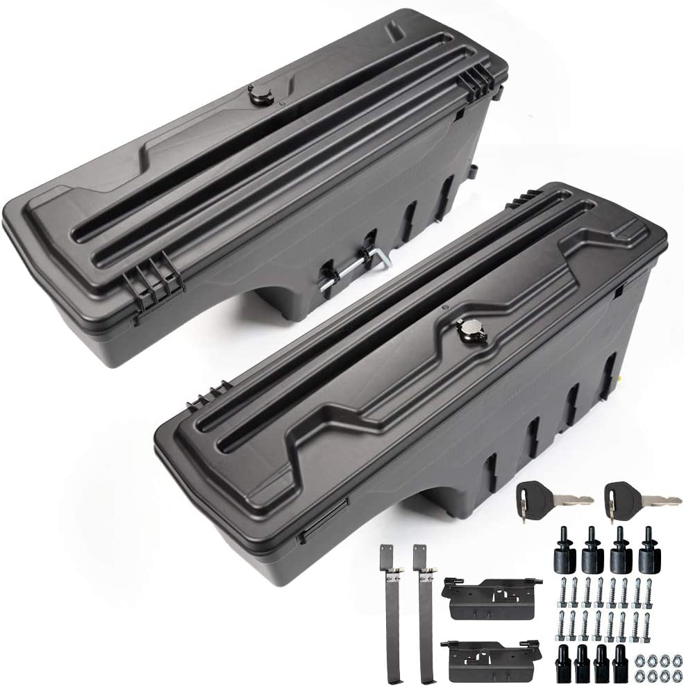 One Pair Set of Driver Passenger Truck Bed Daily bargain trend rank sale Storage Side Black