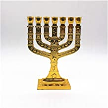 Candle Holders Branch Candlestick, 7 Candlesticks Crystal Candle Holders (Color : Golden)