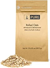 Rolled or Old-Fashioned Oats (2 lbs.) by Pure Ingredients, Resealable Packaging, (Also in 7 lb)
