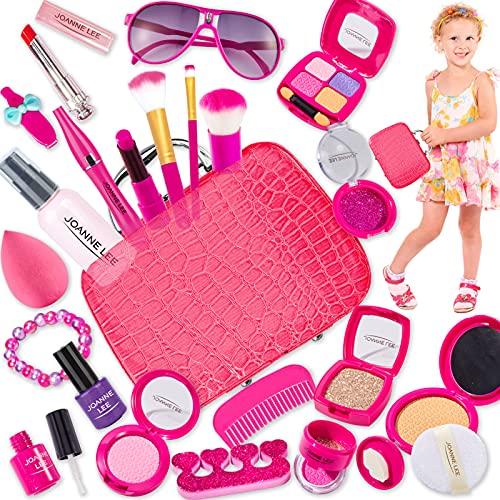 LINFUN KIDS Kit Maletin de Maquillaje Juguetes Niña Princesa Joyería Belleza Kit Juguete Juego de Maquillaje Regalo para Niña 3 4 5 Años