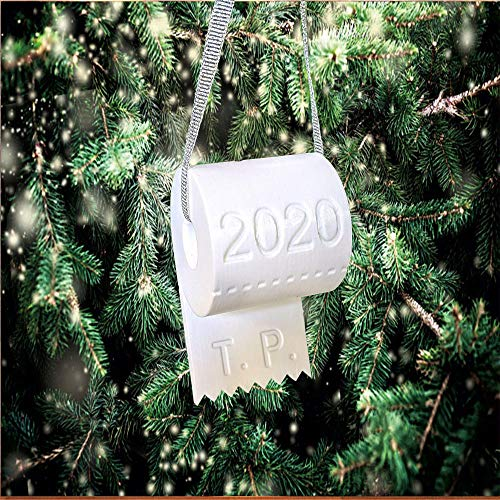Christmas Ornaments Toilet Paper Crisis Hanging Pendants, 2020 Funny & Humor Decorations Iconic Gifts, Fun Christmas Halloween Tree Hanging Decoration,Toilet Paper Ornament (Toilet Paper Pendant)