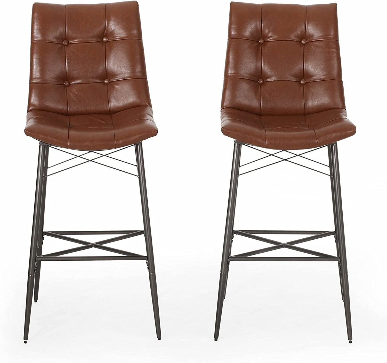 Contemporary Tufted Barstools Set of 2 Chair : Bar New item Max 88% OFF Color High