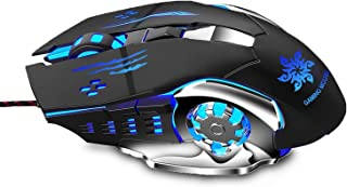 Zinq Technologies 1070 LED Backlight 6 Button USB Gaming Mouse with 3200DPI, 1.5 Metre Nylon Braided Cable, Ergonomic Desi...