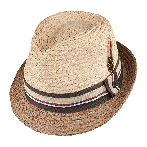 Jaxon & James Chapeau Trilby en Paille Trinidad Naturel Large