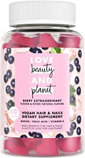 Love Beauty and Planet Gummy Vitamins! 60 Gummies Berry Extraordinary Flavor! Infused with Biotin, Folic Acid, and Vitamin...