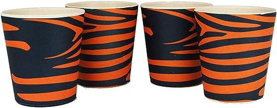 EcoSouLife Sipper Cups Blau, Orange, 4er-Pack Tasse und Schale – Becher/Becher (Stablecer, 0,248 l, Blau, Orange, 4 Stück (S))