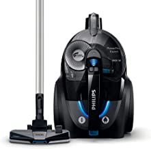 PHILIPS Canister Vacuum Cleaners, Deep Black, FC9732/61