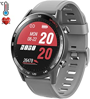 Smartwatch 1.3 Inch Pantalla Táctil Reloj Inteligente con Monitor de Sueño Contador de Caloría Pulsómetros Podómetro para Android iOS