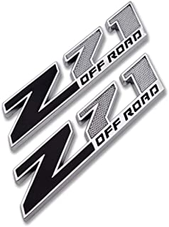 "2x OEM 10/"" Big Chrome Black Z71 Emblems for GMC Chevy Silverado Sierra Tahoe UL"
