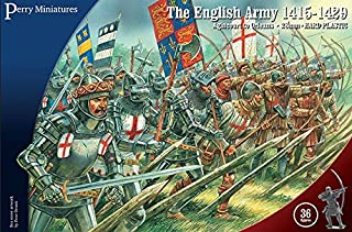 Perry Miniatures AO40 English Army 1415-29 Agincourt to Orleans 28mm 1:56 Hard Plastic Figures x 36 by Perry Miniatures