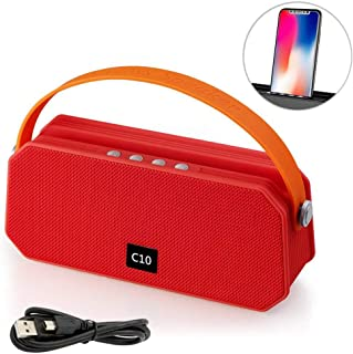 Wireless Bluetooth Speaker, Portable Stereo Bass Speakers for Outdoor Home Music Speaker Support FM Audio TF