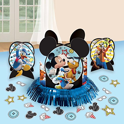 Amscan Mickey Mouse Party Supplies On The Go Table Decorating Kit