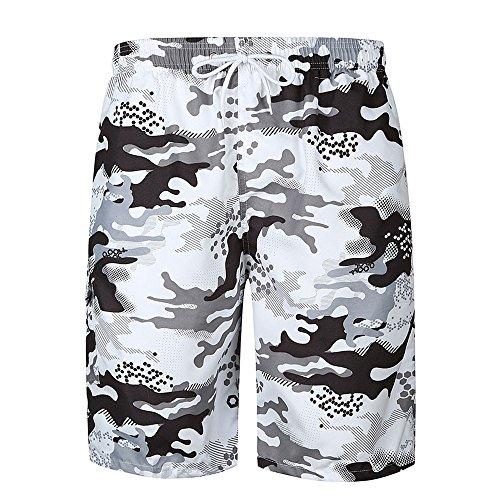 MVPKK Pantalones Cortos de Algodón Hombre Pantalones Cortos Camuflaje Hombre Bermudas de Surf Impresión Hombre Bañadores Cortos Casual Hombre Bermudas Playa Elástico Shorts Hombre Deporte