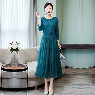 ABDKJAHSDK Large Size S-3Xl 2019 Summer New Elegant Peter Pan Collar Half Sleeve Cotton Linen Gauze Long Dress