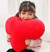 KINGDOM SECRET Weighted Heart Cushion Feels Supportive of Calm and Focused Children's 2.5 lb | Lovely Soft Cushions That Adorn The Home Bed and Sofa | Pillow Toys