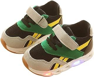 Children Kids Girls Flower LED Light Up Luminous Sneakers Shoes