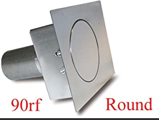 Hagan Street Rods 90RF Round Fuel Door with Flat Surface