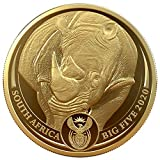 Power Coin Rhino Big Five 1 Oz Moneda Oro 50 Rand South Africa 2020