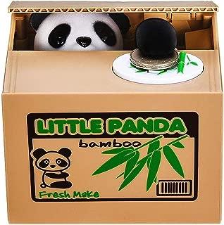 Piggy Bank Mischief Automatic Stealing Money Bank Saving Box Panda Coins Bank Cents Great Christmas/Birthday for Kids(Panda)