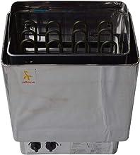 Poêle pour sauna en acier inoxydable 6 kW avec commande intégrée
