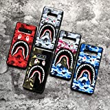 Shark Teeth Bape Camo Print Hard Shell Silicone TPU Case for Samsung Galaxy S10 S10+ Plus S10e Bape Hypebeast Supreme Gift for Girl Boy Street Fashion (Green/Black, Galaxy s10)