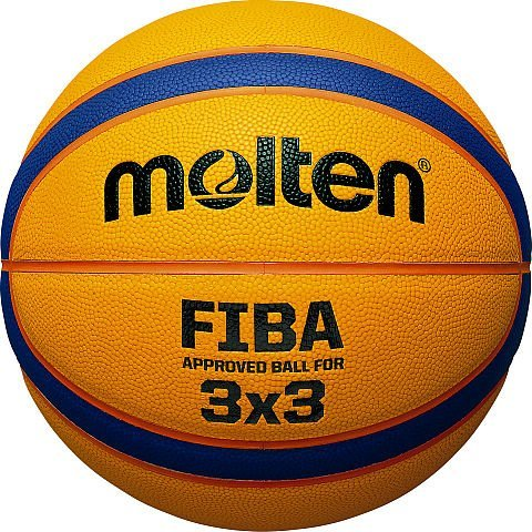 Molten Basketball 3x 3Offizielle Match, Gelb, Größe 6