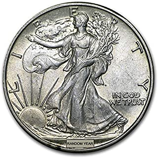 1930-1945 U.S. Walking Liberty Silver Half Dollar Coin Half Dollar About Uncirculated Condition