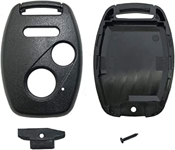 3 Buttons Key Fob Keyless Entry Remote Flip Key Shell Case fits for Honda Civic CR-V Accord Crosstour Odyssey CR-Z Pilot Ridgeline Fit Replacement Key Fob Cover Casing 1