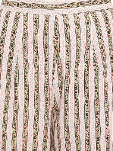 RAJMANDIRFABRICS Women's Cotton Floral Print Straight Kurta Palazzo & Dupatta Set (PK1018008-M_Medium, Peach)