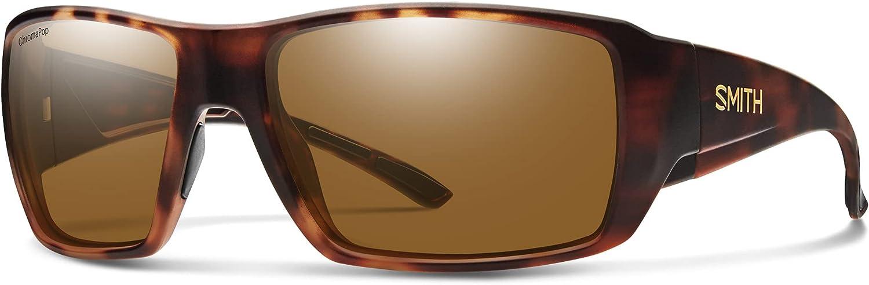 Smith Guide's Choice XL ChromaPop Sport and Performance Sunglasses, Matte Black/Chromapop Glass Polarized Gray, One Size
