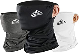 フェイスカバー ネックカバー UVカット 冷感 ネックガード フェイスマスク 日焼け防止 UV UPF50+ ランニング 耳かけ 落ちにくい 通気性抜群 吸汗速乾 呼吸しやすい 伸縮性抜群 多機能 メンズ レディース 男女兼用 3点セット
