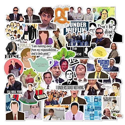The Office Stickers 50 Pack Decals Office Funny Merchandise Poster Sticker for Laptops Computers Office Stickers