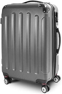 BERWIN Trolley Reisekoffer Reisetasche Gepäcktasche Größe L Stripes Farbe Dunkelgrau