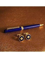 طقم ( قلم وكبك ) من ماركة دهنج قلم سلس ومريح في اليد وكبك   , لون ذهبي