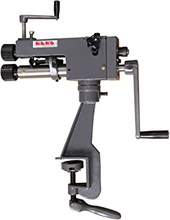 KAKA Industrial RM-08, 7-In Throat Cast-Iron Bead Roller, 22 Gauge Sheet Metal Rotary Forming Machine, High Adjustability HAVC Tools Fabrication Bead Rolling Machine
