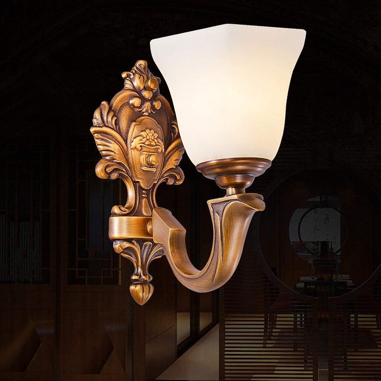LQB European-Style All-Kupfer Wandleuchte Retro Marmor Marmor Amerikanischen Schlafzimmer Nachttischlampe Gang Guanuan Lichter B07G7SWF8C | Online-Exportgeschäft
