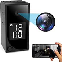 Hidden Camera Clock WiFi Spy Camera,FUVISION 1080P Mini Digital Alarm Clock Home Surveillance Night Vision Nanny Cams Wireless with Cell Phone App for Indoor Security
