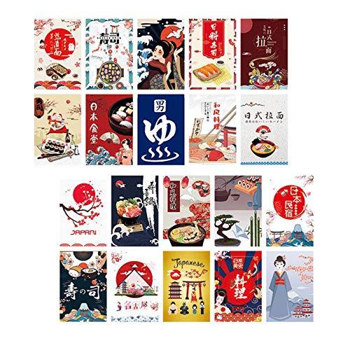 MagiDeal Pancartas Verticales de poliéster Colgantes de Sushi-Juego de decoración de Pared de Fiesta Japonesa-Decoración de Puerta Interior - Tipo 1