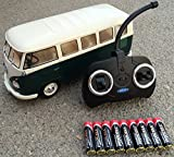 BUSDUGA RC ferngesteuert VW Bulli 1962 T1 - 1:18 RTR , komplett-Set , Licht inkl. Fernsteuerung - DER Klassiker ! Bus oder Transporter, Farbe wählbar. (Bus - GRÜN/BEIGE)