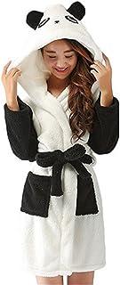 9a0a56033e4d2 Kenmont Femme Peignoir de Bain Robe de Nuit Animal Cosplay Pyjama avec  Capuche