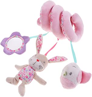 FITYLE Cute Infant Baby Toys Activity Spiral Bed & Stroller Toy Set Hanging Doll - Rabbit Bird, as described