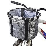 Lixada Bike Basket, Small Pet Cat Dog Carrier Bicycle Handlebar...
