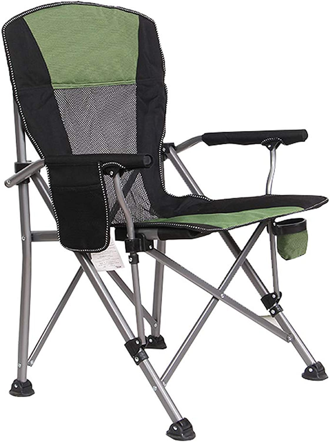 Folding Lightweight Camping Chair Portable Outdoor, Beach BBQ Camp Fishing Picnic Hiking Backyard Backpacking Sports Hunting Chairs, Green