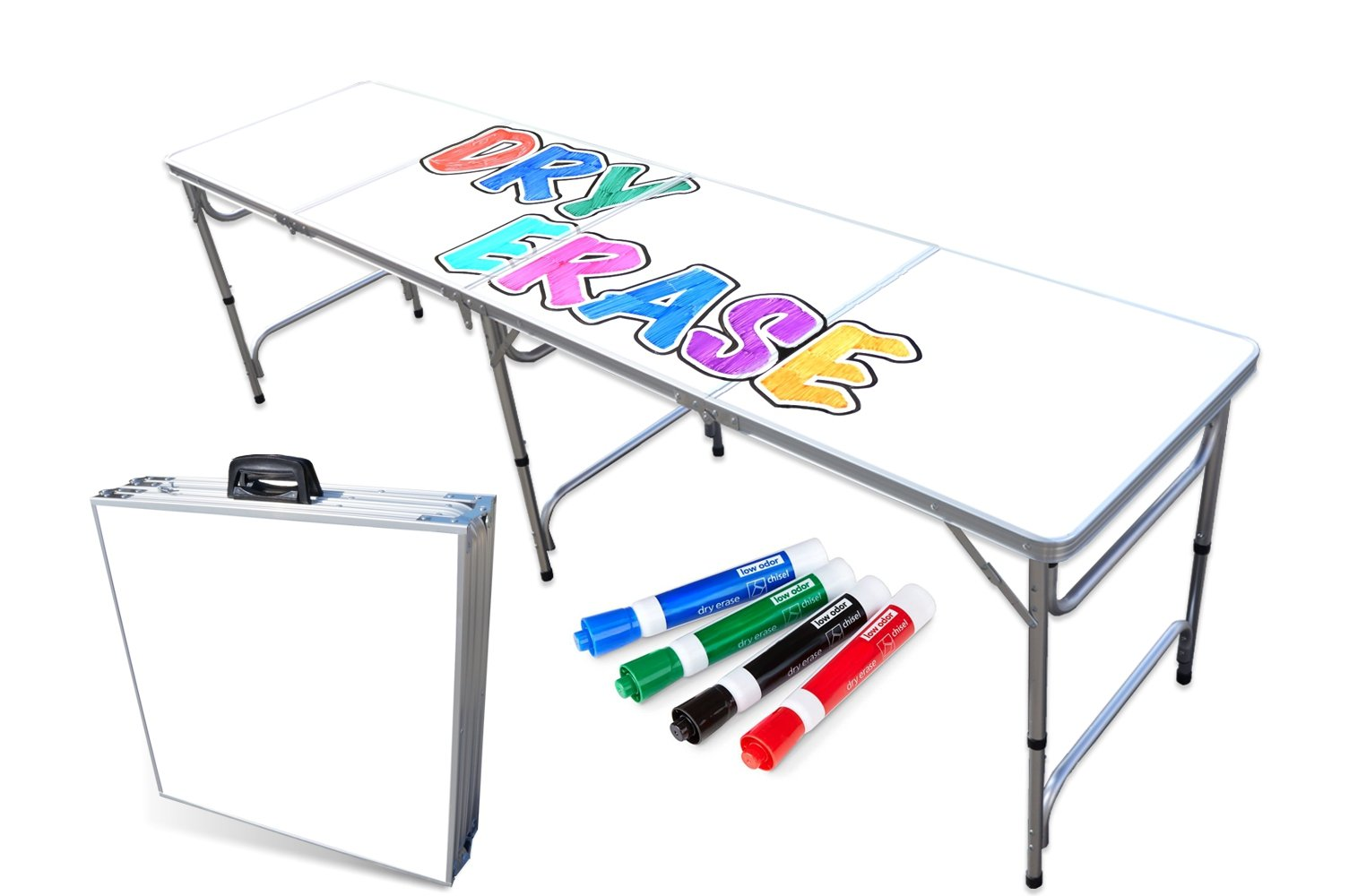 Splash Graphic 8-Foot Professional Beer Pong Table w// Optional Bluetooth Speaker /& Holes